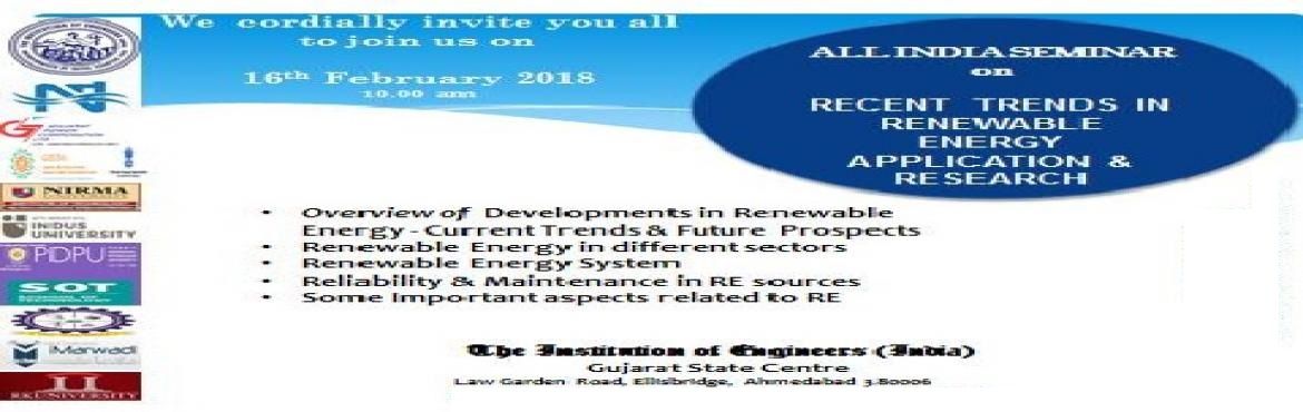 All India Seminar on Recent Trends in Renewable Energy Application and Research