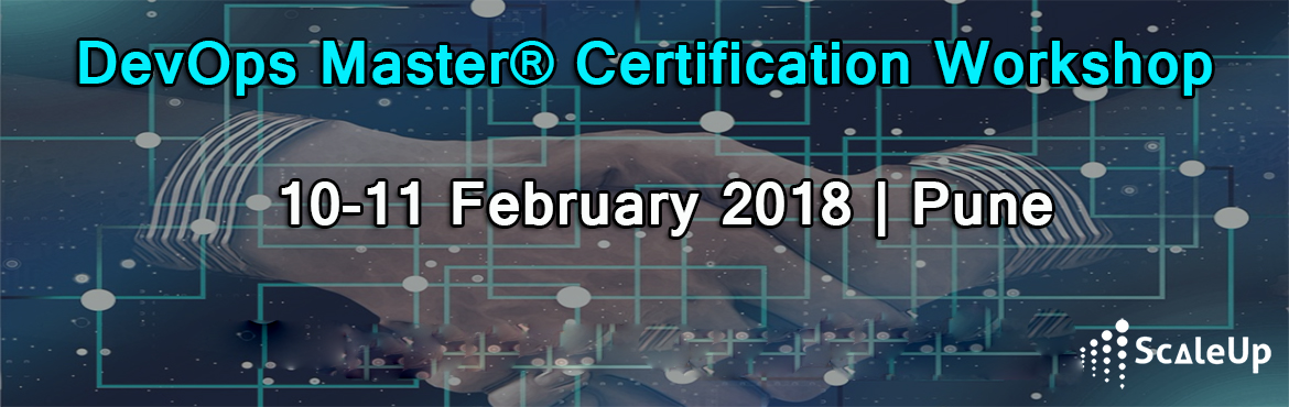 Book Online Tickets for DevOps Training, Pune (10-11-February 20, Pune. DevOps Training and Certification course is designed for Application or Service Developers and Product Owners, Agile Scrum Masters, Project Managers, Test Engineers, Test Managers, IT Service Managers, Process Managers and Lean IT Practitioners to un