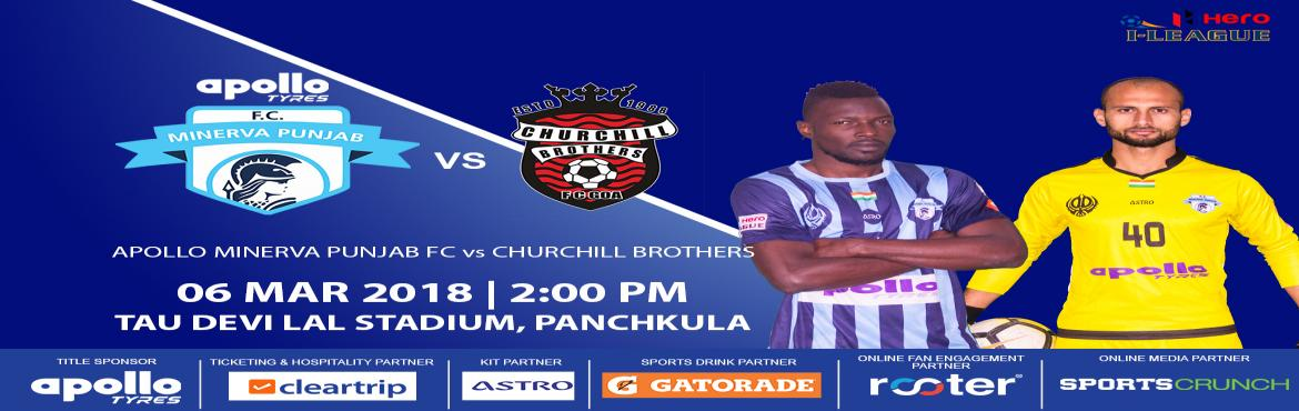 Book Online Tickets for Apollo Minerva Punjab FC vs Churchill Br, Chandigarh.   The I-League, officially known as the Hero I-League due to sponsorship reasons, is an Indian professional league for men's association football clubs.       At the top of the Indian Football League system, it is one of the