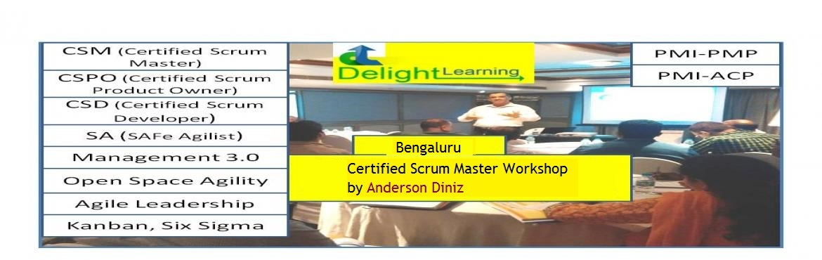 Book Online Tickets for Certified Scrum Master (CSM) Workshop by, Bengaluru.   Certified Scrum Master (CSM) Workshop   In 2 days, participants will be doing…   Activities to demonstrate Team self design Watch some fun videos on agile, scrum!!! Create scrum workflow in their way. Create Charts Lots of dis