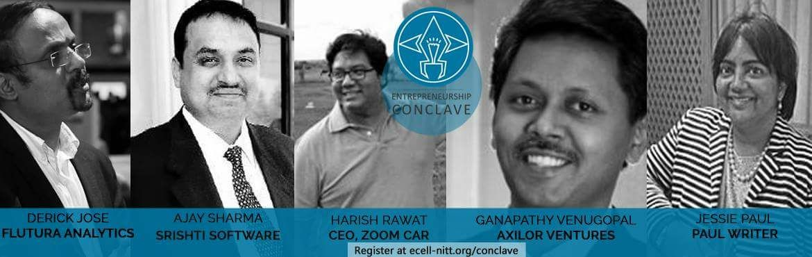 Book Online Tickets for Entrepreneurship Conclave Bangalore, Bengaluru. E-Cell NIT Trichy is a student run non-profit organisation that aims to fire the entrepreneurial dreams of young technical minds across the globe. We do this by organising Workshops, Guest lectures, Google hangouts, Ventura - International Business P