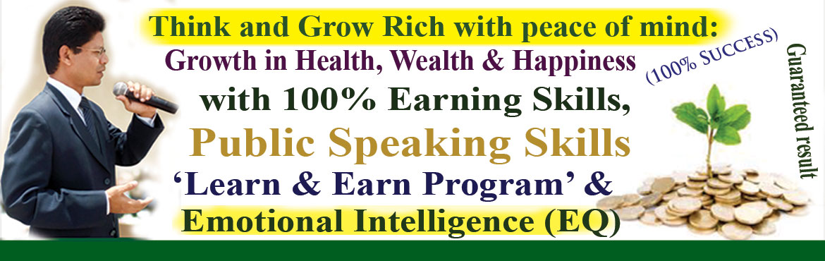Book Online Tickets for Think and Grow Rich with peace of mind , Hyderabad. Think and Grow Rich with peace of mind.The greatest wealth of all, peace of mind without which there can be no real happiness. You live in a world filled with outside influences.You have a great potential for success, but first you must know yo
