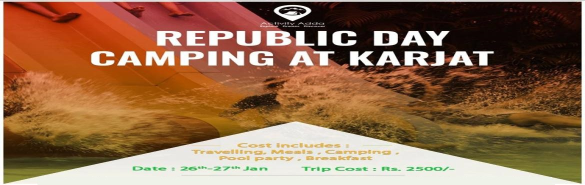 Book Online Tickets for Republic Day Camping, Karjat. Celebrate with us, the pride of being Indian. Giving a modern twist to traditional values, we enjoy and rejoice in the spirit of patriotism. Camp in the woods , have a party around the pool with an old style open air cinema. A little off the city lim