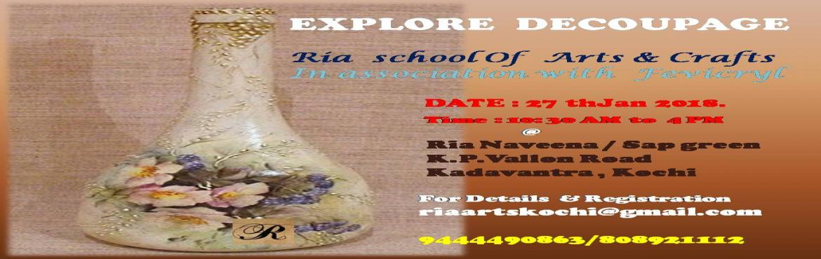 Ria Decoupage Workshop Kochi