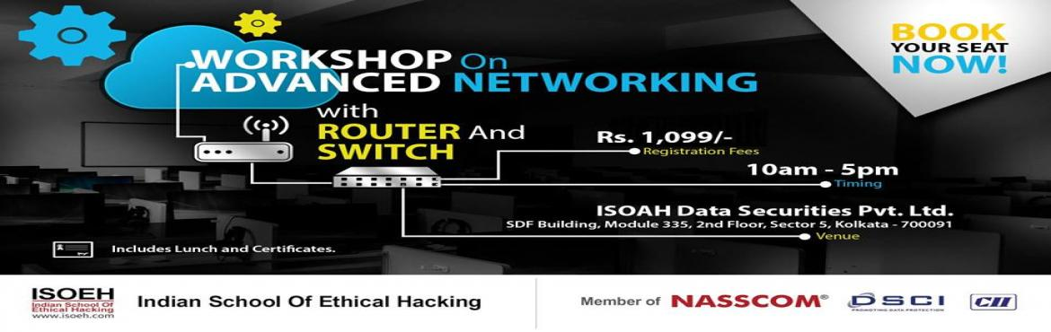 Book Online Tickets for CCNA Workshop - Advance Networking with , Kolkata.  The event will cover the following:  OSI Model and TCP/IP Networking Protocols TCP and UDP Ports Important Routing Protocols Virtual Private Network (VPN) Segmenting a Layer 2 Network by VLAN IPv6 Classifications of Networks IP Address Connecti