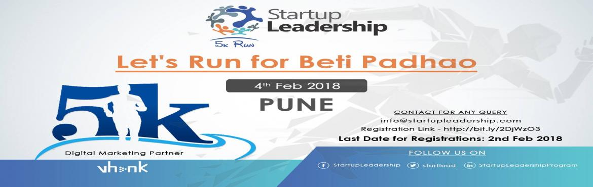 Book Online Tickets for Run for Girl Child Education, Pune. About The Event  Goodie bag and T-shirt Collection: Sunday, 4th Feb @ IT Park Ground, Kharadi, from 5:30 am to 7:00 am  Reporting - 6:00 am Warmup - 6:30 am ( An enthralling Folk Warm up Experience with Folk Fitness, Pune)