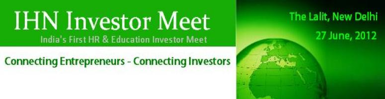 IHN Investor Meet - India\'s First HR & Education Investor Meet
