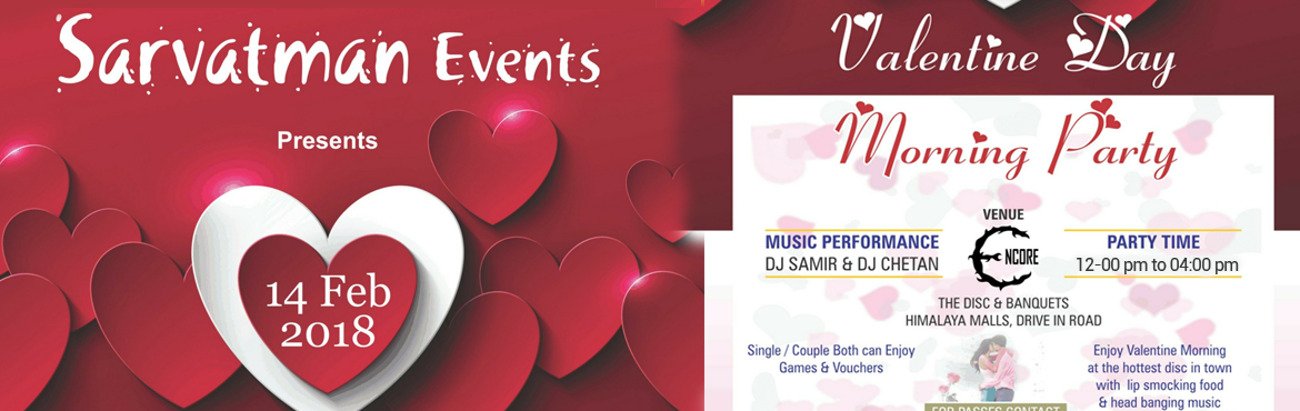 Book Online Tickets for Valentine Day Party, Ahmedabad. Valentine party  14th February 12 pm to 4pm   With DJ Chetan   Vouchers : Bharti taneja free hair cutting (only for ladies)* Easy home Guru Service Booklet(Gift vouchers worth 15000 rs)* Tattoo Hub 1920 Voucher   Book Ticket Singl