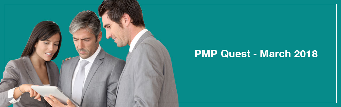 Book Online Tickets for PMP Quest - March 2018 , Bengaluru. The 35-hour contact course is mandatory for candidates wanting to appear for the PMP certification Exam and is designed towards exam preparation. The course is based on PMI\' s Project Management Body of Knowledge (PMBOK - 6) covering Project Managem
