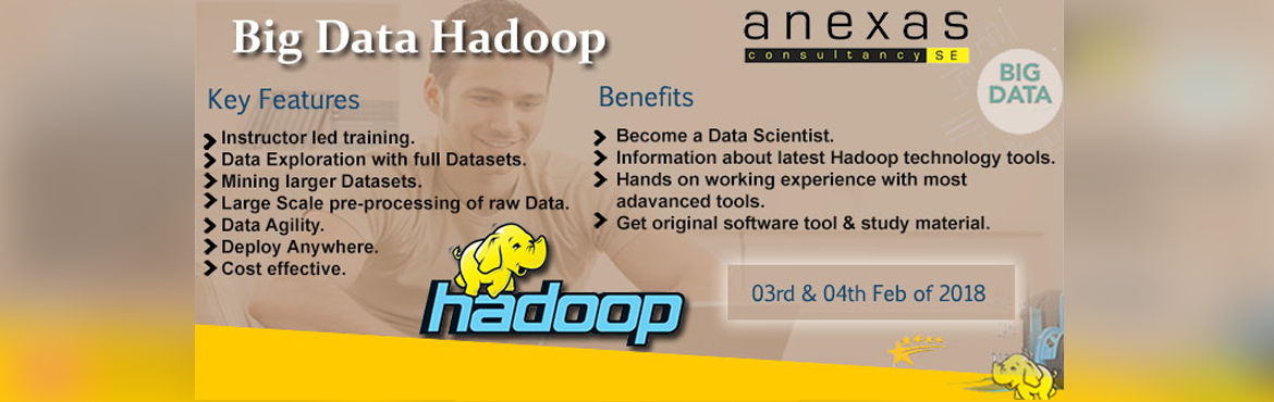 Book Online Tickets for Big Data Hadoop Training in Bangalore, Bengaluru. Anexas – Big Data Hadoop Analytics development & Security enables the candidate to roll out through all the phases of Data Analytics from Requirements As big data builds into an avalanche of information, many organizations are finding
