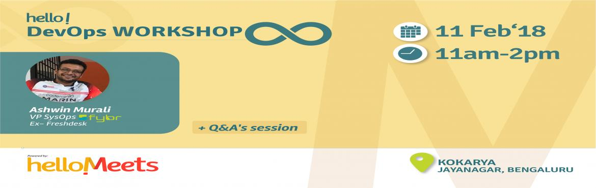 Book Online Tickets for DevOps Workshop, Bengaluru.   Why DevOps?    The main characteristic of the DevOps movement is to strongly advocate automation and monitoring at all steps of software construction, from integration,testing,releasing to deployment and infrastructure manag