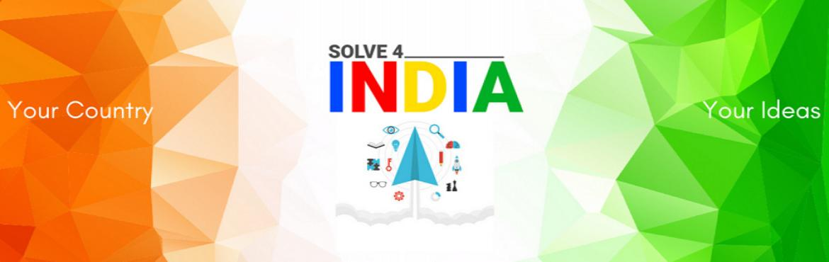 Book Online Tickets for Solve4India, Varanasi.  Technology has evolved from time to time. The advancement in the use of technology to address several challenges is the biggest success the human race has achieved. India with the second largest population in the world, likely to become the lar