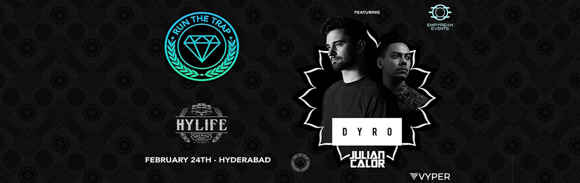 Book Online Tickets for Run the Trap India Tour w/ Dyro ,Julian , Hyderabad.  Like all electronic genres, the trap & bass community in India has been exploding off lately. And now here\'s one more reason for fans to rejoice: popular trap platform ,YouTube channel Run The Trap is coming to India, and getting some fan