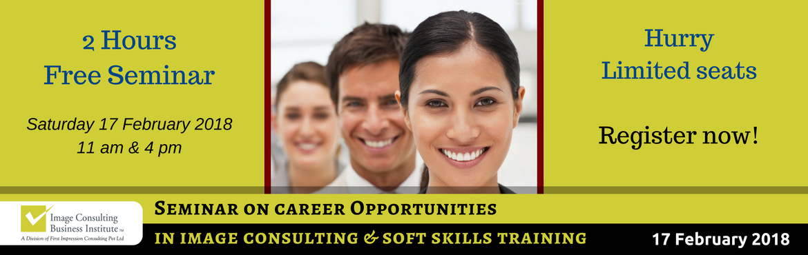 Book Online Tickets for ICBI Seminar on Career Opportunities in , Panaji. Image, Style Wardrobe Consulting and Soft Skills Training is one of the fastest growing professions of this decade. Everyone is realizing the need to create powerful first impressions to get more opportunities in life and acquiring soft skills to per