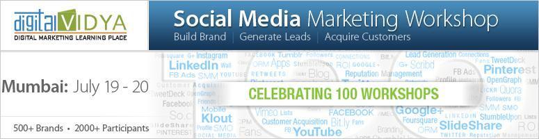 Social Media Marketing Workshop - July 19 & 20, 2012 - Mumbai