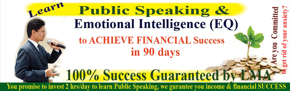 Book Online Tickets for Learn Public Speaking and Emotional Inte, Hyderabad. I can have great ideas, skills and knowledge; they are of no good to me, my career or my organisation; if I can't communicate them clearly, confidently, persuasively to convert my knowledge into earnings. It's not what I communicate but h