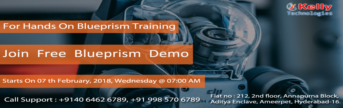 "Book Online Tickets for Kelly Technologies Has Scheduled A Free , Hyderabad. Kelly Technologies Has Scheduled A Free Demo On Blue Prism  In Hyderabad On 7th Feb 2018 @ 7:00 AM.   ""It's Time To Attend The Best Demo On Blue Prism Attended By Industry Experts At Kelly Technologies  On This Wednesday At"