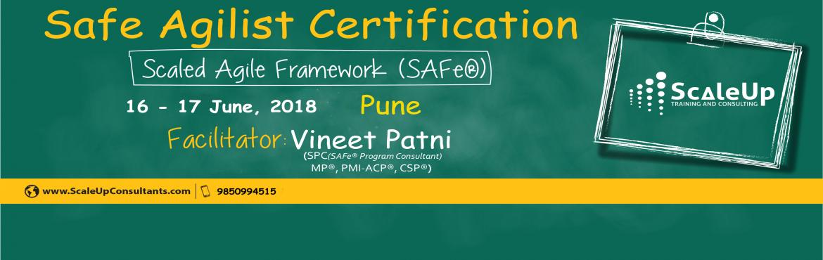 Book Online Tickets for SAFe Agilist Certification V4.5 Pune Jun, Pune. The SAFe® Agilist certification is especially designed for agile leaders, project, program and portfolio managers who work in a scaled agile set-up. The SAFe Agilist certification program is for executives, managers and Agile change agents