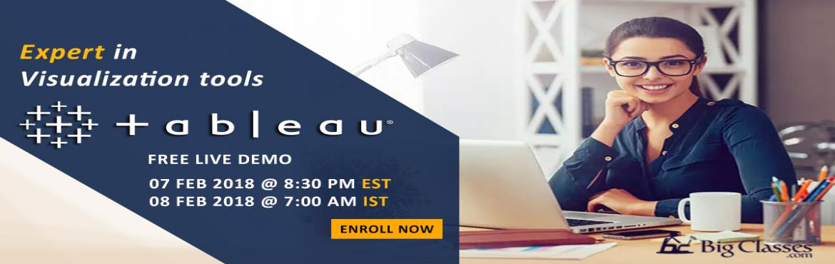 Stay forward in Analytics Career by studying Tableau Desktop - Free Live Tableau Coaching Demo in bigclasses.com