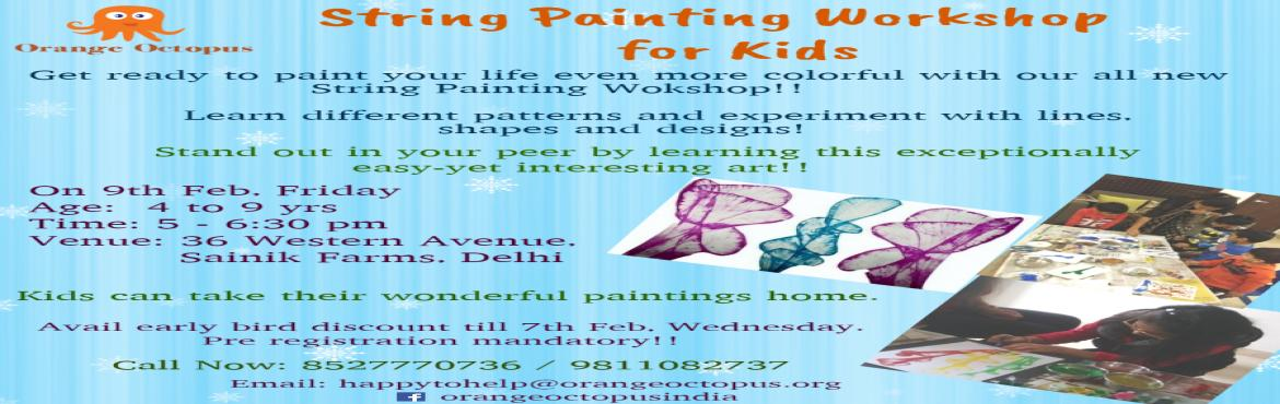String Painting Workshop  For  Kids