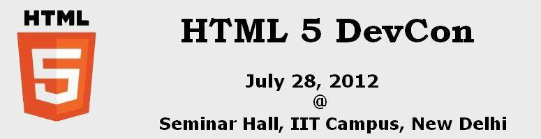 HTML 5 DevCon