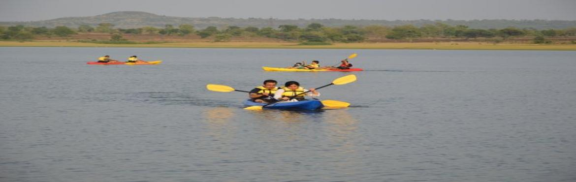 Book Online Tickets for KAYAKING.ZIP LINING,Day Outing in Vikara, Vikarabad. It\'s time to get out of the weekday tiresome and jump into the weekend to do some Masti and Dhamaal... How about One Day Adventure along with some Kayaking and activities like Zip lining, Gettig refreshed in a pool and an Awesome lunch with a bunch