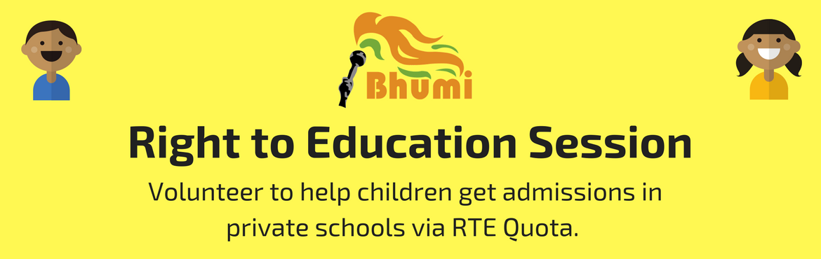 Book Online Tickets for Attend RTE Session in Chennai, Chennai. TheRight to Education Actmandates that all private unaided schools have toreserve 25% seats for the children from disadvantaged or economically weaker sectionsfrom the neighbourhood. Their completeeducation is free