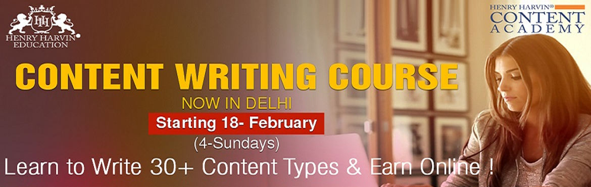 Book Online Tickets for Certified Digital Content Writer Course , New Delhi. Henry Harvin Education introduces 4 day/32 hours Classroom Based Training and Certification course on content writing creating professional content writer, marketers, strategists. Gain Proficiency in creating 30+ content types and become a