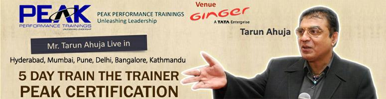 Book Online Tickets for 5 DAY TRAIN THE TRAINER: PEAK CERTIFICAT, Hyderabad. The \\\