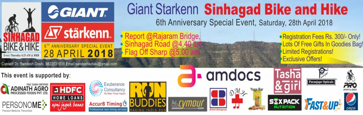 Giant Starkenn 6th Anniversary Special Event Of Sinhagad Bike And Hike