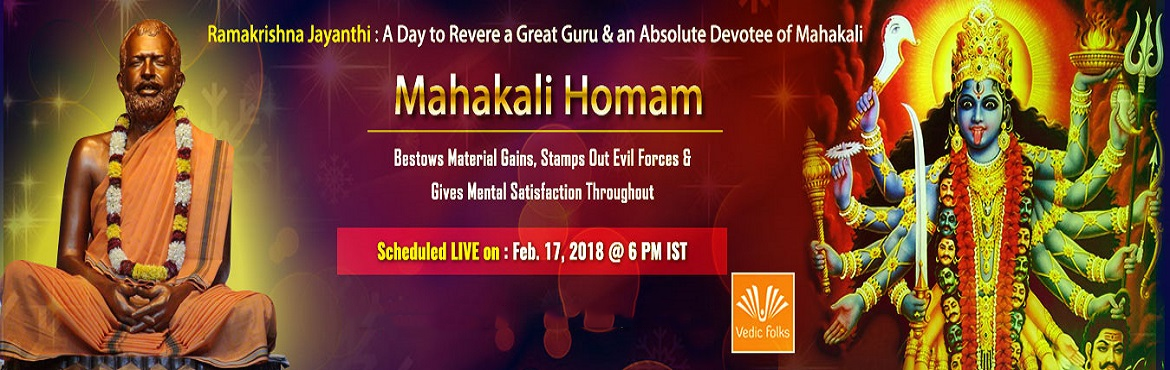 Book Online Tickets for Ramakrishna Jayanthi, Chennai.  Ramakrishna – A Yogi Who Realised That God Exists In Every Form of Life Ramakrishna Paramahamsa was a simple yet great yogi who was a great devotee of Goddess Kali. Born in 1836 into a poor family in Kolkata's Hoogly district, Rama