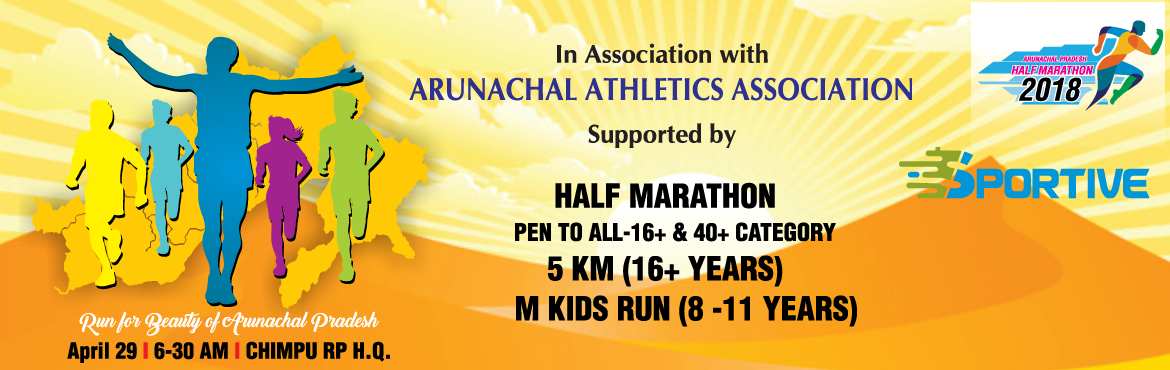 Book Online Tickets for Arunachal Pradesh Half Marathon, Ittanagar. Starting/Finish Point- Chimpu RP H.Q. (Itanagar)   Route- Chimpu to Holongi connection   HM- 10.5 KM up & down   5KM- 2.5KM up & down.       Start time: tentatively 6.30 am.   Cut off time: HM - 3 Hr &n