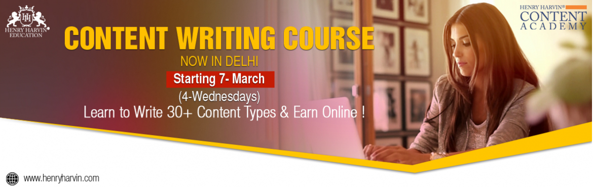 Book Online Tickets for Content Writing Course By Henry Harvin E, New Delhi. Henry Harvin Education introduces 4 day/32 hours Classroom Based Training and Certification course on content writing creating professional content writer, marketers, strategists. Gain Proficiency in creating 30+ content types and become a
