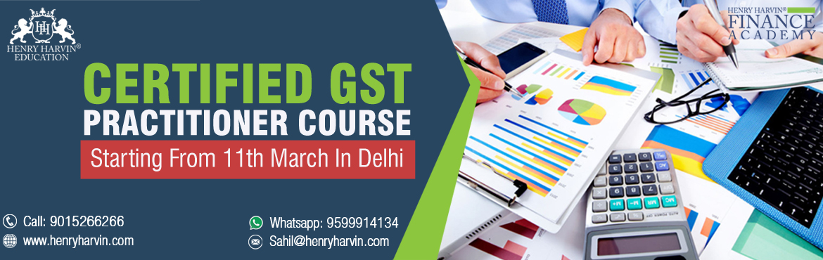Book Online Tickets for GST Practitioner 4-Days Intensive Traini, New Delhi. This has reference to your telephonic discussion held earlier today regarding the\'Certified GST Practitioner\' Coursethat gives a 360-degree insight on GST by GST Expert who speaks at AAJ TAK, NDTV and more.Please find below relate
