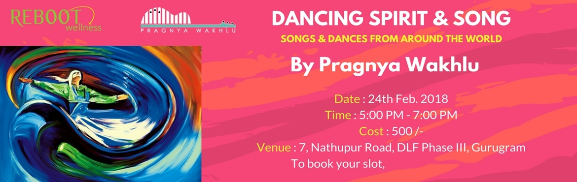Book Online Tickets for Dance Spirit and Song - Community Event, Gurugram.  Mousai India and Reboot Wellness are coming together to bring to you a community dance and song experience.Join us at for a celebration of YOU with meditation, soulful singing and heart dancing. We begin the evening with a sound medit