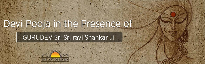 Book Online Tickets for Devi Pooja in the Presence of GURUDEV Sr, Jabalpur.  Devi Pooja in the Presence of GURUDEV on9th March 2018.