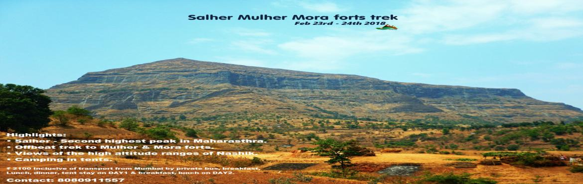 Book Online Tickets for Trek to Salher (highest fort of MH) Mulh, nasik.  Salher fort is the highest fort in Maharashtra and the second highest peak in Maharasthra.Offbeat trek to Mulher and Mora forts with a visit to ancient Siva Mandir which is an architecture Marvel in this trail.With that said it also includes ca
