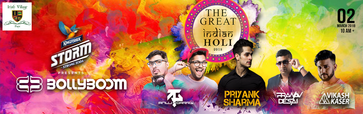 Book Online Tickets for The Great Indian Holi 2018, Pune. About:   Event Name – The Great Indian Holi   Event DescriptionThe Great Indian Holi 2018    Its that time of the year when youll see the air around you layered with vibrant colors , happy faces dancing to Pumpy music and basical