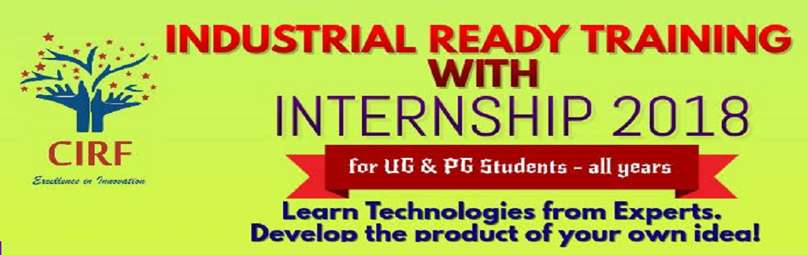 Book Online Tickets for Industrial Training with Internship 2018, Chennai.