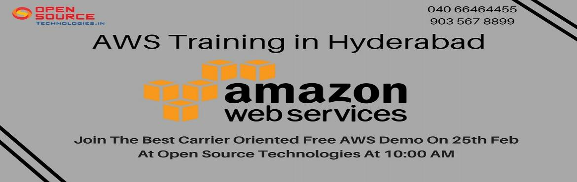 Book Online Tickets for Its Time To Attend The Best Interactive , Hyderabad. It is Time To Attend The Best Interactive Demo Session On AWS At The Open Source Technologies Scheduled For 25th Feb @ 10 AM.   Attend AWS Free Demo In Hyderabad By The Open Source Technologies On This Sunday 25th Of Feb At 10 AM.   About T