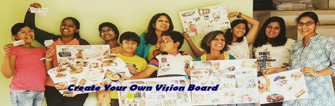 Book Online Tickets for Create your own Vision Board, Hyderabad.  What is it about?Vision board is a collage of images, pictures, and affirmations of your dreams, goals, and things that make you happy. It can also be called dream board, treasure map, or vision mapVisualisation is one of the most powerful mind