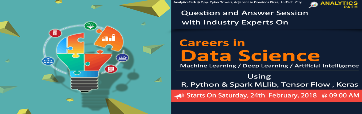 Data Science Training in Hyderabad at Analytics Path helps the audience to acquire skills in the world of data science across the sciences, medicine,