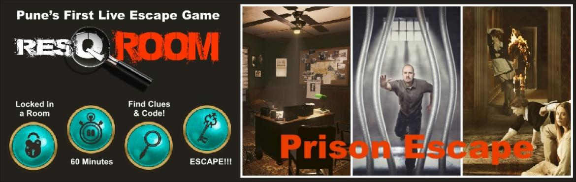 Book Online Tickets for Prison Escape - Resqroom - Live Escape G, Pune. Tihar Jail is the most secured prison in India, from where no prisoner has ever escaped. Being an internationally recognized escape artist and a prisoner since the last 10 years, you have tried to escape multiple times but failed! With each fail
