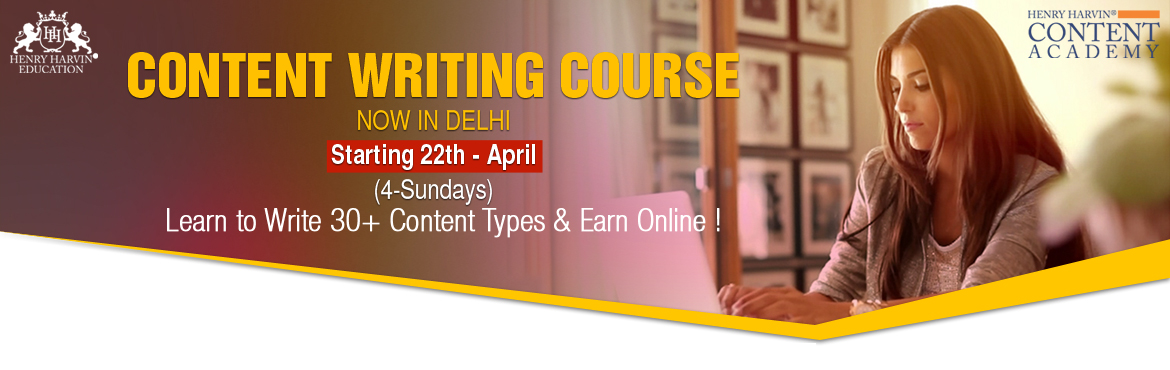 Book Online Tickets for Content Writing Course By Henry Harvin E, New Delhi. Henry Harvin Educationintroduces 4 day/32 hours Classroom Based Training and Certification course on content writing creating professional content writer, marketers, strategists. Gain Proficiency in creating 30+ content types and become a