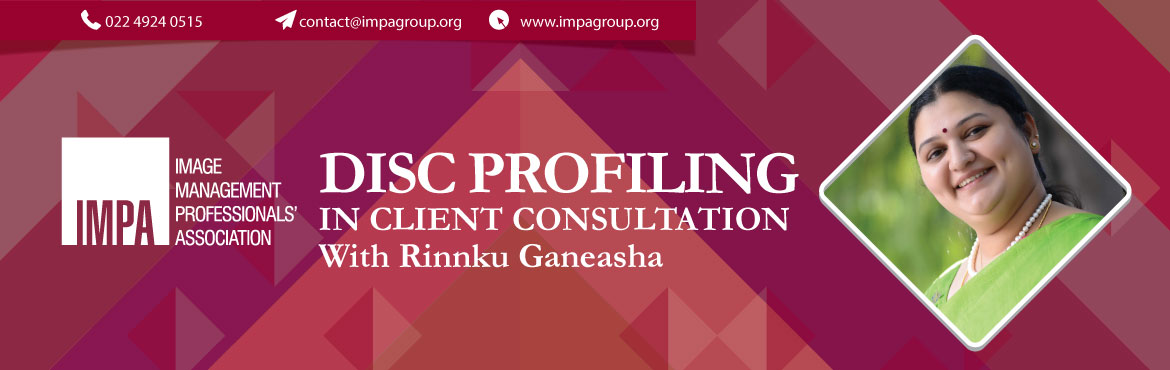 Book Online Tickets for DISC profiling in client consultation , Bengaluru. Rinnku Ganeasha is a Human Behavioral Coach, HR Professional, Speaker and Author of an upcoming book 'The Magical Genie-Discovering Your Unique Blueprint for Success'. She is an alumni of IIM-Ahmedabad, has a Masters in English and an MBA