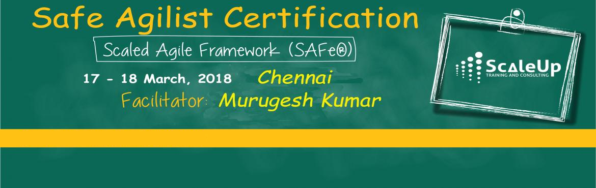 Book Online Tickets for SAFe Agilist Certification Chennai March, Chennai. The SAFe® Agilist certification is especially designed for agile leaders, project, program and portfolio managers who work in a scaled agile set-up. The SAFe Agilist certification program is for executives, managers and Agile change agents respon