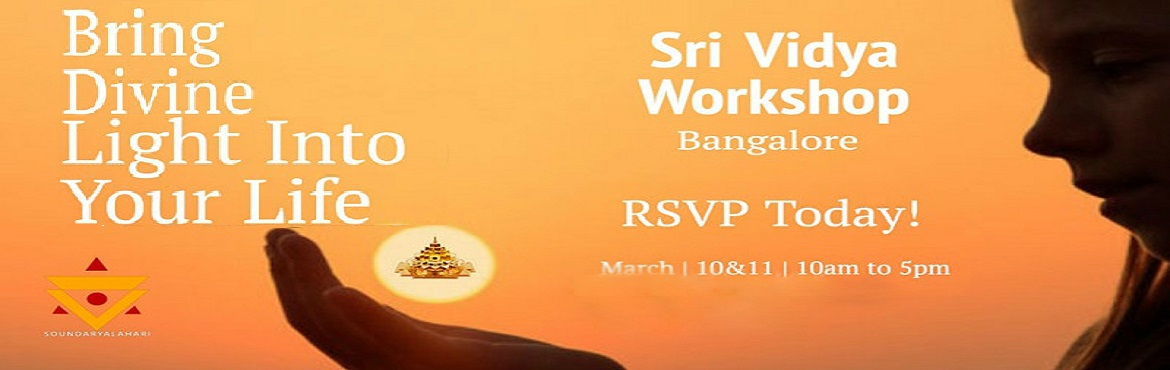Book Online Tickets for Sri Vidya Basic Workshop, Bengaluru. II Sri Matre Namaha II Soundarya Lahari Trust is pleased to announce an upcoming Basic Sri Vidya Class by Sri Guru Karunamaya in Bangalore on March 10 and 11. This is a rare opportunity to learn directly from Sri Guru Karunamaya. Guruji will offer pe