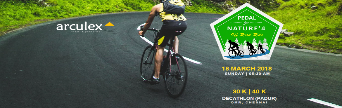 Book Online Tickets for Pedal For Nature 4, Chennai.   Pedal for Nature (PFN) is an intiative by Saturday Cycling Club Started in March 2017, a Cycling Rally for the cause of saving natural resources and to save traditional practices on food, health & life style which brings in happi