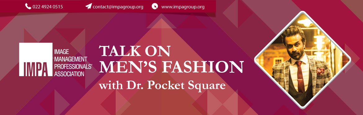 Book Online Tickets for Talk on  Mens Fashion, Bengaluru. Dr. Neel Reddy, or popularly known as Dr. Pocket Square, is a London based real life Doctor/Fashion Influencer. He brings about with him over 15 years of experience, in studying and adapting to various trends in men's fashion. He has come a lon