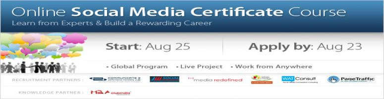 Job Oriented Social Media Course